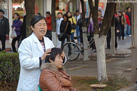 I massaggiatori non vedenti in Cina, le immagini