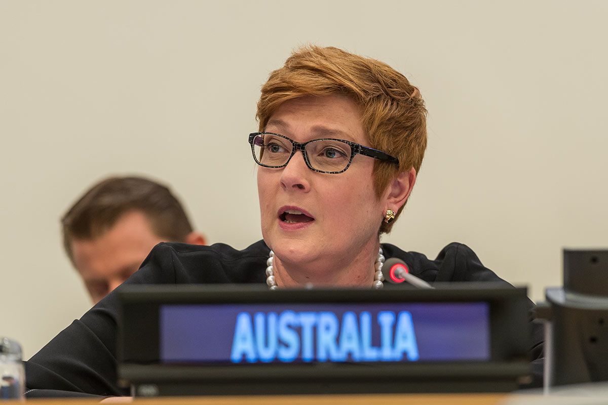 belt and road australia marise payne
